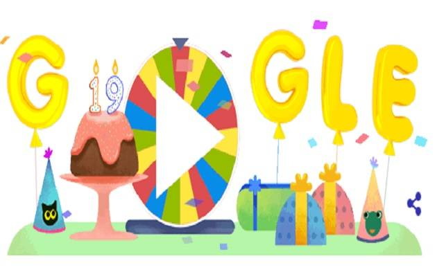 Google Celebrates 19th Birthday With Surprise Spinner Doodle News Nation English