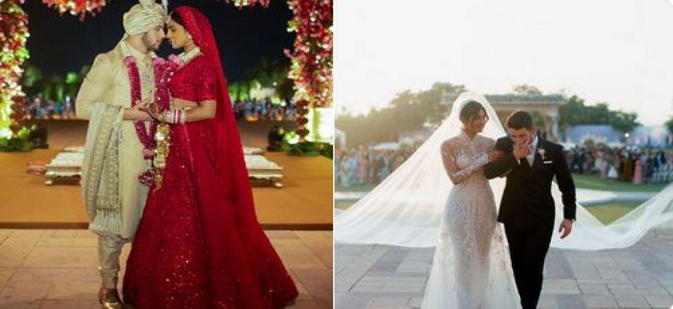Priyanka Chopra S Red Lehenga Sabyasachi Reveals Peecee S