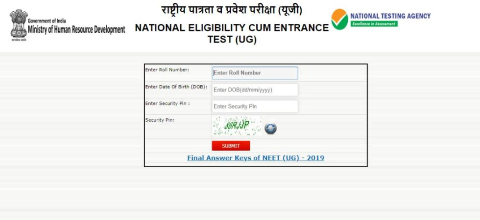 Live Check Neet 2019 Results Nta Neet 2019 Result Neet 2019 Result Ntaneet Nic In News Nation English