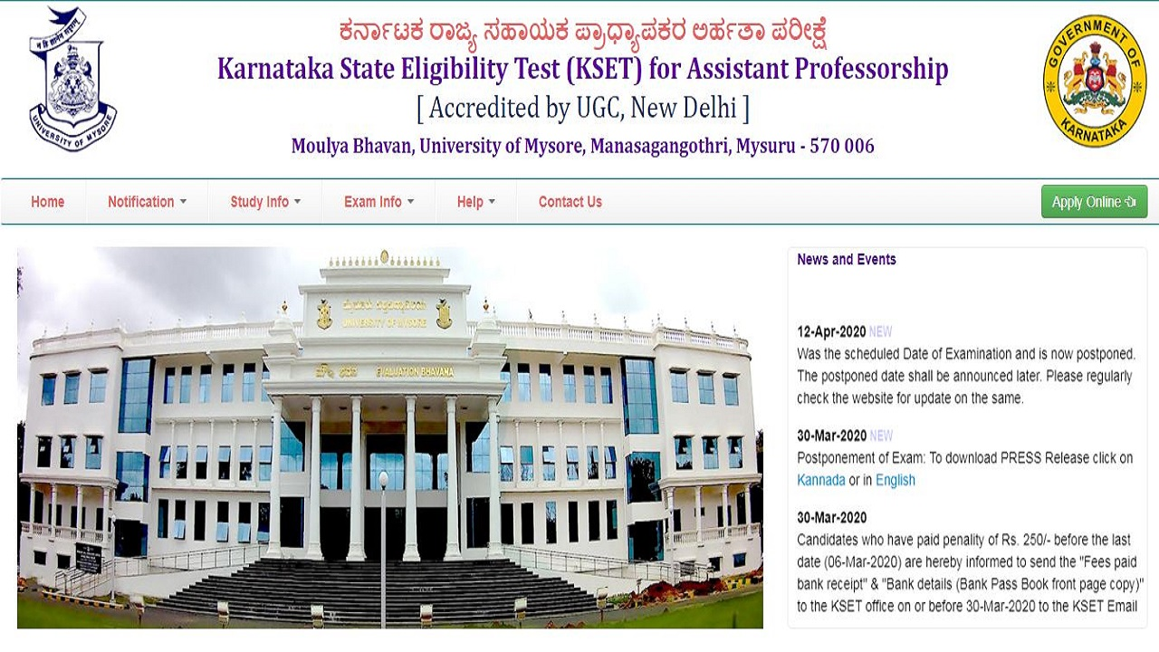 KSET 2020 Exam Update, Revised Timetable To Be Released Soon