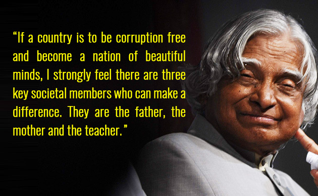 Apj Abdul Kalam 87th Birth Anniversary 5 Inspiring Quotes By The People S President News Nation English